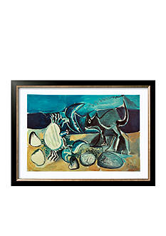 Art.com Cat and Crab on the Beach, 1965, Framed Art Print - Online Only