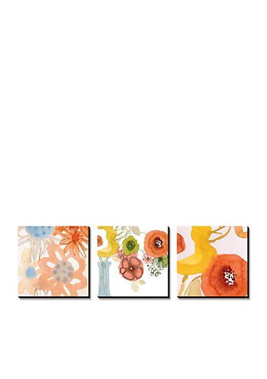 Art.com Watercolor Bouquets Triptych, Canvas Art Set - Online Only