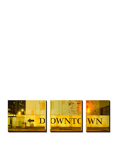 Art.com Downtown Sign Printed on a Wall, San Francisco, California, USA, Canvas Art Set,- Online Only