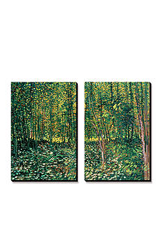 Art.com Woods and Undergrowth, c.1887, Canvas Art Set - Online Only
