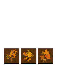 Art.com Fall Leaves Triptych, Canvas Art Set - Online Only