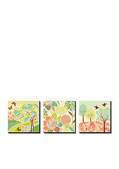 Art.com Summer Patterns Triptych, Canvas Art Set