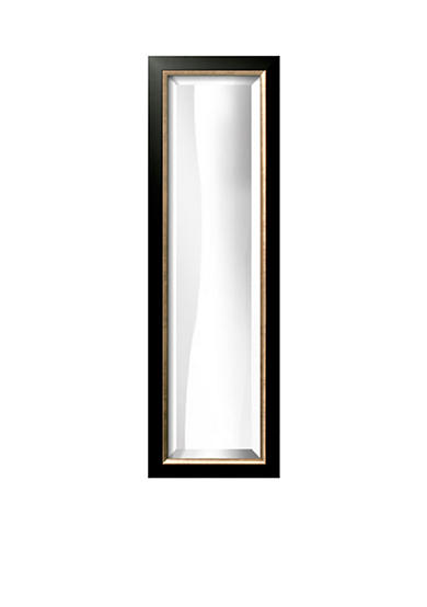 Art.com 10.8-in. W x 32.8-in. H Allegro Black Wood Framed Mirror - Online Only