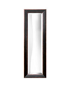 Art.com 11.3-in. W x 33.3-in. H Highland Black Wood Framed Mirror - Online Only