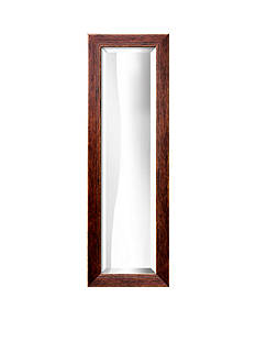 Art.com 11.3-in. W x 33.3-in. H Highland Brown Wood Framed Mirror - Online Only