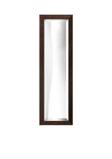 Art.com 10.3-in. W x 32.3-in. H Plymouth Brown Wood Framed Mirror