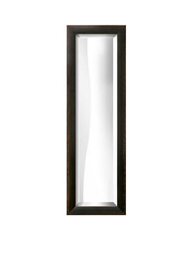 Art.com 10.8-in. W x 32.8-in. H Shabby Chic Black Wood Framed Mirror - Online Only