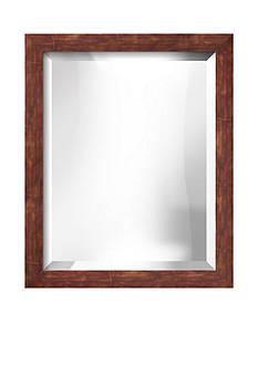 Art.com 18.9-in. W x 22.9-in. H Berlin Bronze Wood Framed Mirror - Online Only