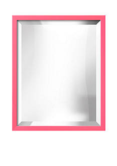 Art.com 17.5-in. W x 21.5-in. H Confetti Pink Wood Framed Mirror - Online Only