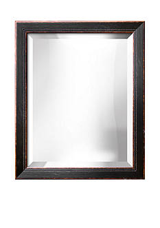 Art.com 19.3-in. W x 23.3-in. H Highland Black Wood Framed Mirror - Online Only