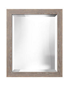 Art.com 19.3-in. W x 23.3-in. H Lancaster Gray Wood Framed Mirror - Online Only
