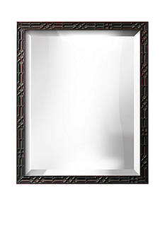 Art.com 18-in. W x 22-in. H Reva Black Wood Framed Mirror - Online Only