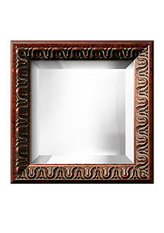 Art.com 13.3-in. W x 13.3-in. H Angelique Brown Wood Framed Mirror - Online Only