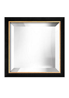 Art.com 11.6-in. W x 11.6-in. H Basel Black Wood Framed Mirror - Online Only