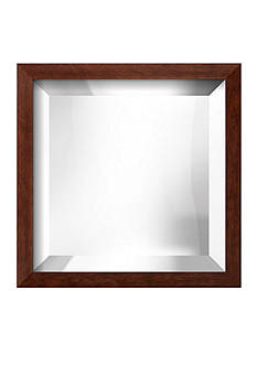 Art.com 11.3-in. W x 11.3-in. H Chelsea Brown Wood Framed Mirror - Online Only