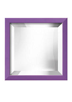 Art.com 11.5-in. W x 11.5-in. H Confetti Purple Wood Framed Mirror - Online Only