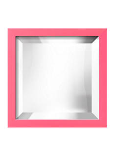 Art.com 11.5-in. W x 11.5-in. H Confetti Pink Wood Framed Mirror - Online Only