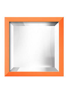 Art.com 11.5-in. W x 11.5-in. H Confetti Orange Wood Framed Mirror - Online Only