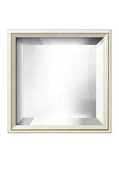 Art.com 11.4-in. W x 11.4-in. H Eastman White Wood Framed Mirror - Online Only