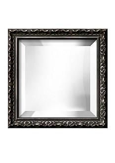 Art.com 12.3-in. W x 12.3-in. H Hampton Black Wood Framed Mirror - Online Only