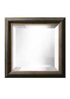 Art.com 12.5-in. W x 12.5-in. H La Mode Black Wood Framed Mirror - Online Only