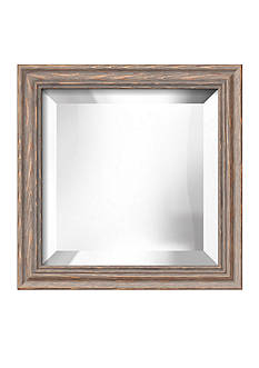 Art.com 12.3-in. W x 12.3-in. H Lancaster Gray Wood Framed Mirror - Online Only
