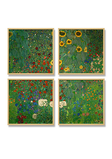 Art.com Farm Garden with Sunflowers, c.1912, Framed Art Print - Online Only<br>
