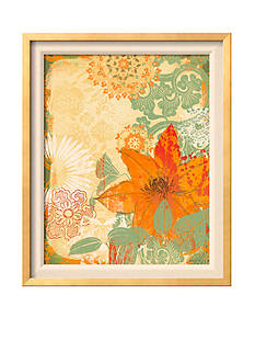 Art.com Folk Flower II, Framed Art Print