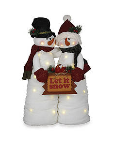 Santa's Workshop 25-in. Snowman Couple