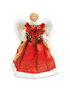 Santa's Workshop 16-in. Red Scroll Angel Tree Topper