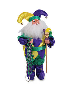 Santa's Workshop 15-in. Mardi Gras Jester Santa
