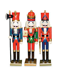 Santa's Workshop 24-in. King, Guard and Soldier Nutcrackers Set