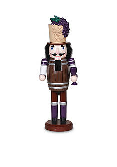 Santa's Workshop 14.5-in. Wine Barrel Nutcracker