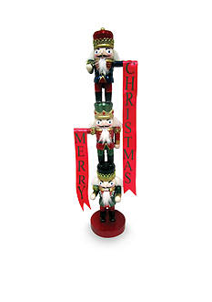 Santa's Workshop 19-in. Stacked Guards Nutcrackers
