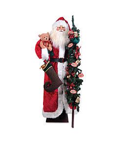 Santa's Workshop Vintage Santas With Toys With Led Lights