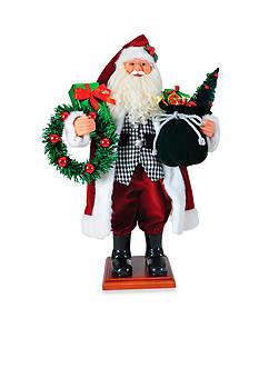 Santa's Workshop 20-in. Houndstooth Santa - Online Only