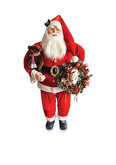 Santa's Workshop Bearing Presents Santa