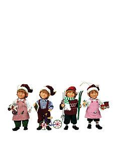 Santa's Workshop Working Elves Ornaments