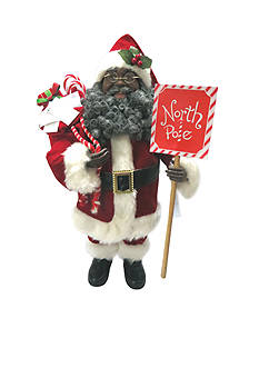 Santa's Workshop 15-in. African American North Pole Santa