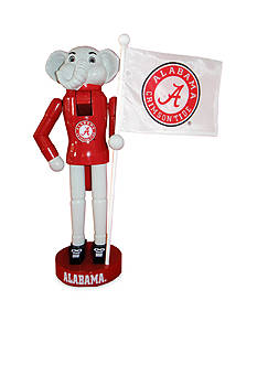 Santa's Workshop 12-In. Alabama Mascot & Flag Nutcracker