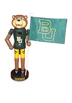 Santa's Workshop 12-in. Baylor Bear & Flag Nutcracker