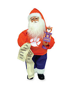 Santa's Workshop 15-in. Clemson Santa with Nutcracker