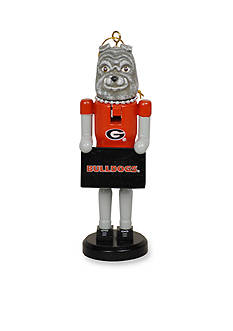 Santa's Workshop Georgia Bulldogs Nutcracker Ornament Set