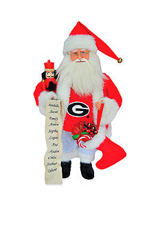 Santa's Workshop 15-in. Georgia Bulldogs Santa - Online Only