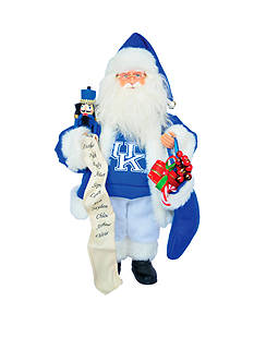 Santa's Workshop 15-in. Kentucky Wildcats Santa - Online Only
