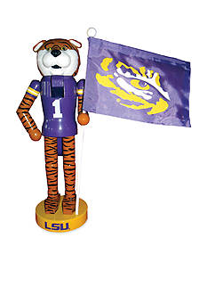 Santa's Workshop 12-In. NCAA LSU Tigers & Flag Nutcracker