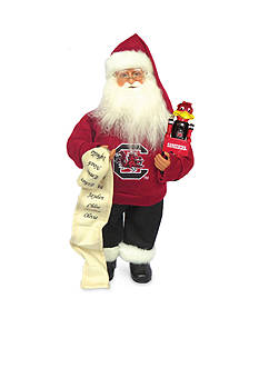 Santa's Workshop 15-in. University of South Carolina Santa with Mascot