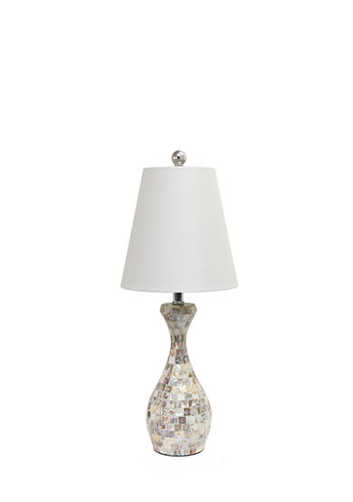 All the Rages Malibu Seashell Mosaic Curved Table Lamp