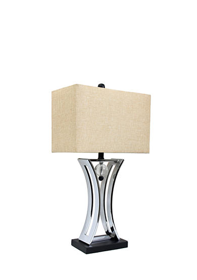 All the Rages Satin Nickel Regency Executive Business Table Lamp