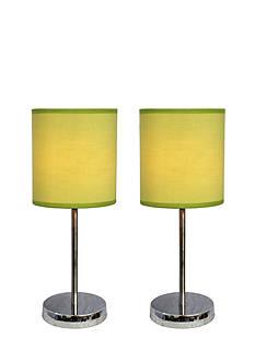 Simple Designs Chrome Mini Basic Table Lamp - Set Of 2